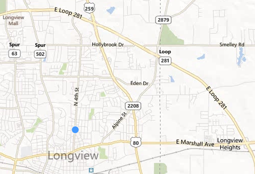 Longview Texas Map